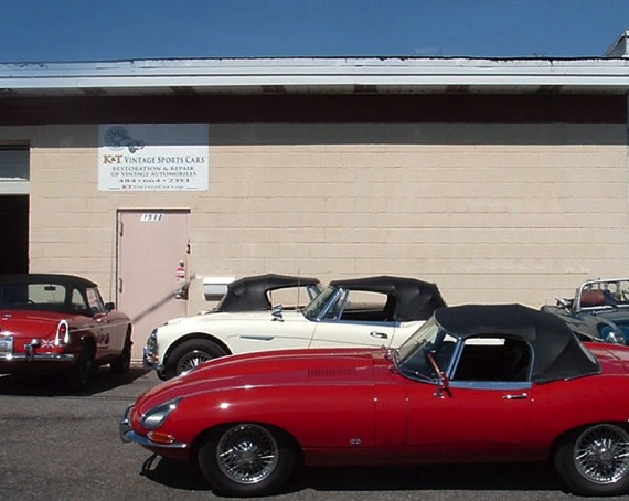K&T Vintage Sports Cars is located off Airport Road south of Route 22 in Allentown, Pa.