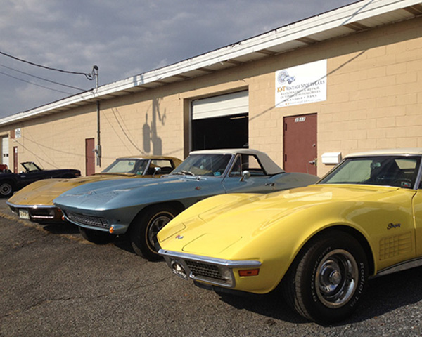 Three Corvette Stingrays in the shop at the same time