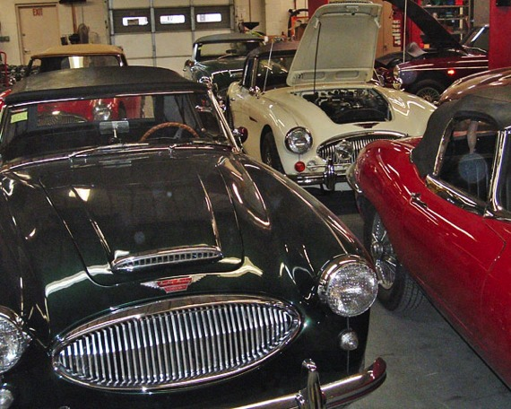 Our shop is always full of interesting cars, here for everything from routine maintenance to complete restoration.